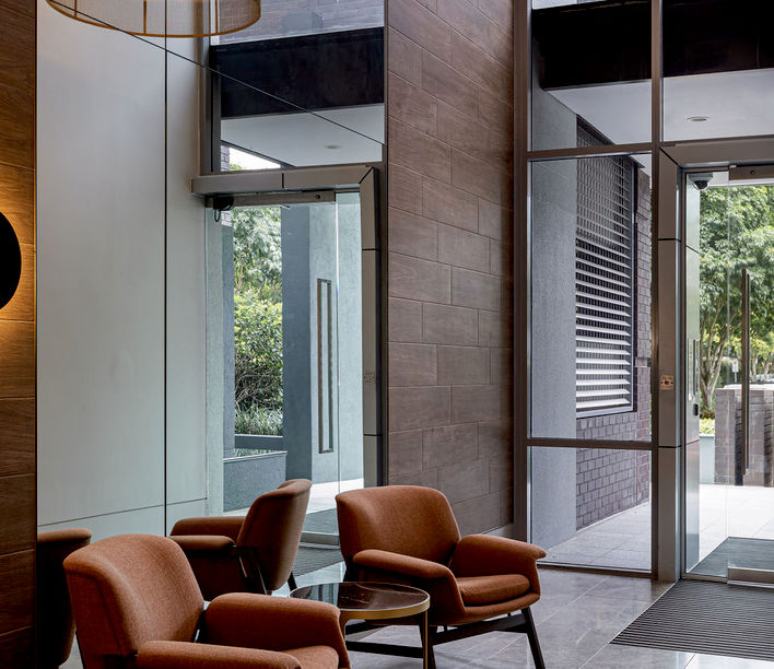 Cutters Landing, Mitchell Lobby designed by Base Architecture | Photography by Cam Murchison