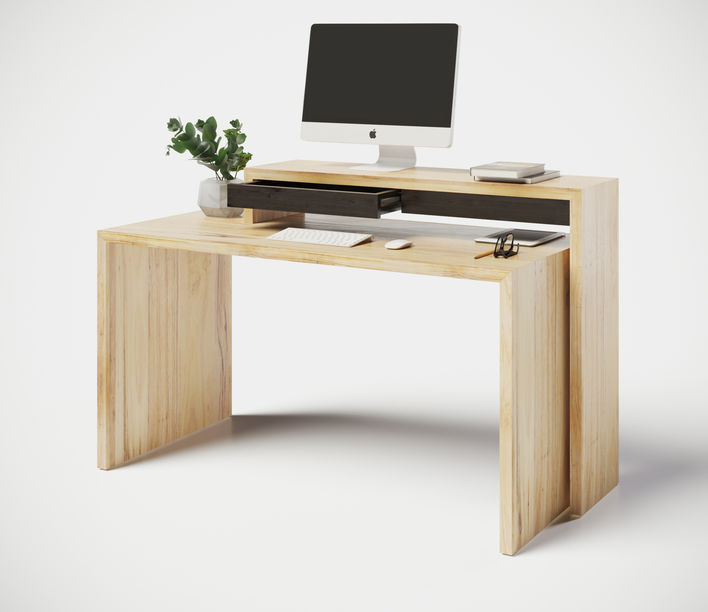 Naco Designs   Nango-19 Desk with NannUp Shelf   Available from Stylecraft