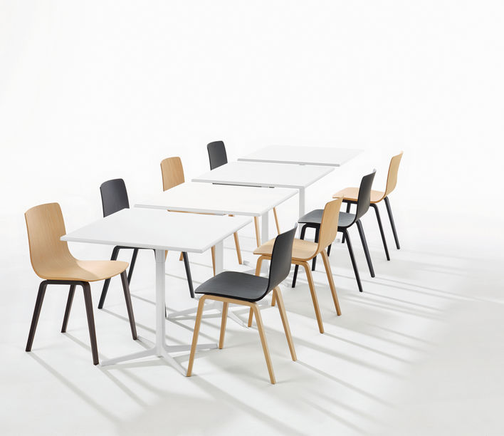 Aava Timber Leg Chair by Arper