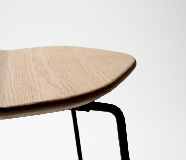 Ross Gardam | Duet Stool Seat in Oak | Available exclusively from Stylecraft