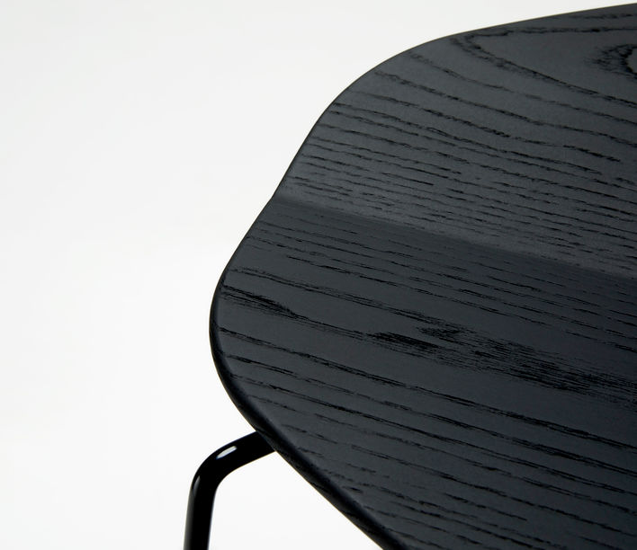 Ross Gardam | Duet Stool Seat in Black Stain | Available exclusively from Stylecraft