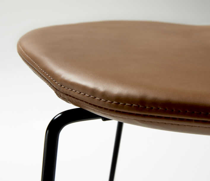 Ross Gardam | Duet Stool Seat in Leather Upholstered | Available exclusively from Stylecraft
