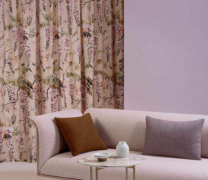 La Primavera Fabric Range designed by Mokum | Featuring Adapt Lounge and Cage Side Table