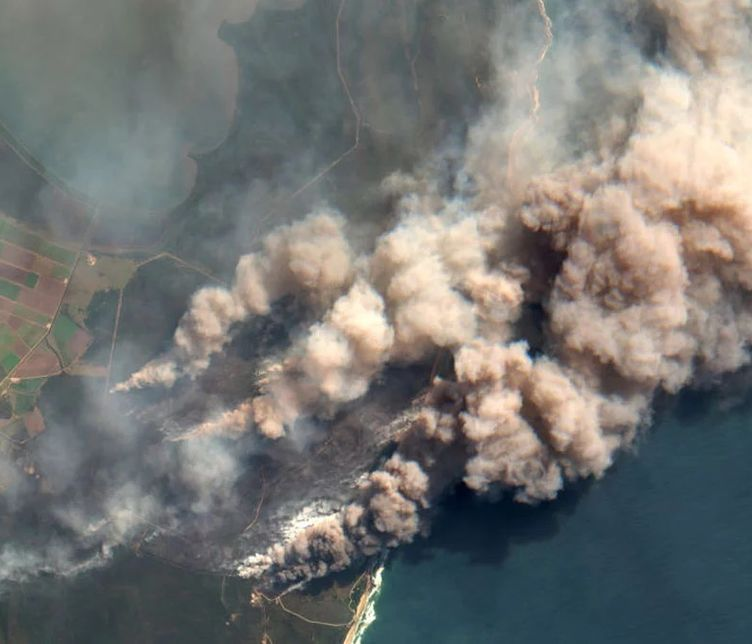 Aerial view of some of the 2019-2020 Australian bushfires | Photograph from Getty Images