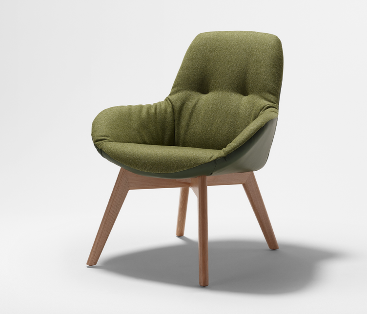 ESO | Ivy Soft Timber Leg with Two Tone Upholstery